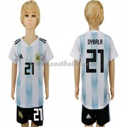 Voetbalshirts kids Argentinië 2018 Paulo Dybala 21 thuis tenue ..