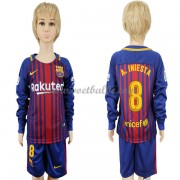 Voetbalshirts kids Barcelona A. Iniesta 8 thuis tenue lange mouw 2017-18..