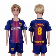 Voetbalshirts kids Barcelona A. Iniesta 8 thuis tenue 2017-18..