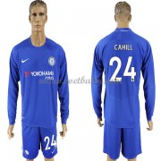 Voetbaltenue Chelsea Cahill 24 thuisshirt lange mouw 2017-18..