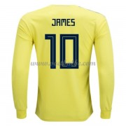 Voetbalshirt Colombia 2018 James Rodriguez 10 thuis tenue lange mouw..