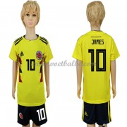 Voetbalshirts kids Colombia 2018 James Rodriguez 10 thuis tenue ..