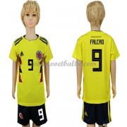 Voetbalshirts kids Colombia 2018 Radamel Falcao 9 thuis tenue ..