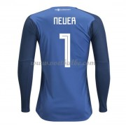 Voetbalshirt Duitsland 2018 keeper Neuer 1 thuis tenue lange mouw..