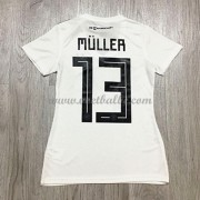 Goedkope Voetbaltenue Duitsland Dames 2018 Thomas Muller 13 thuisshirt..