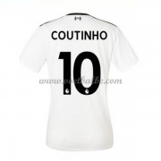 Goedkope Voetbaltenue Liverpool Dames 2017-18 Philippe Coutinho 10 uitshirt..