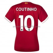 Goedkope Voetbaltenue Liverpool Dames 2017-18 Philippe Coutinho 10 thuisshirt..