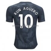 Voetbaltenue Manchester City Kun Aguero 10 third shirt 2017-18..