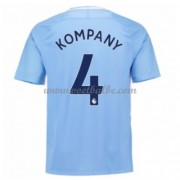 Voetbaltenue Manchester City Vincent Kompany 4 thuisshirt 2017-18..