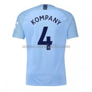 Goedkoop Voetbaltenue Manchester City 2018-19 Vincent Kompany 4 Thuisshirt..