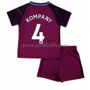 Voetbalshirts kids Manchester City Vincent Kompany 4 uit tenue 2017-18..