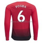 Goedkoop Voetbaltenue Manchester United 2018-19 Paul Pogba 6 Thuisshirt Lange Mouw..