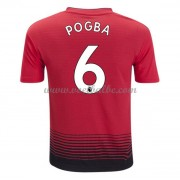 Goedkoop Voetbaltenue Manchester United 2018-19 Paul Pogba 6 Thuisshirt..