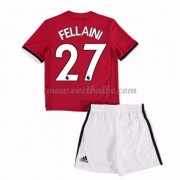 Voetbalshirts kids Manchester United Fellaini 27 thuis tenue 2017-18..
