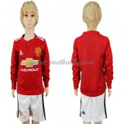 Voetbalshirts kids Manchester United thuis tenue lange mouw 2017-18..