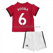 Voetbalshirts kids Manchester United Paul Pogba 6 thuis tenue 2017-18