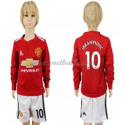 Voetbalshirts kids Manchester United Zlatan Ibrahimovic 9 thuis tenue lange mouw 2017-18..