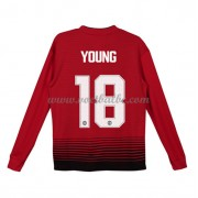 Goedkope Voetbalshirts Manchester United Tenue Kind 2018-19 Ashley Young 18 Thuisshirt Lange Mouw..