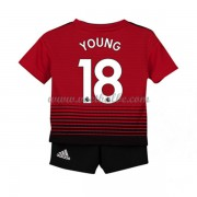 Goedkope Voetbalshirts Manchester United Tenue Kind 2018-19 Ashley Young 18 Thuisshirt..