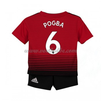 Goedkope Voetbalshirts Manchester United Tenue Kind 2018-19 Paul Pogba 6 Thuisshirt