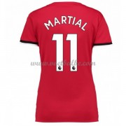 Goedkope Voetbaltenue Manchester United Dames 2017-18 Martial 11 thuisshirt..