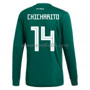 Voetbalshirt Mexico 2018 Chicharito 14 thuis tenue lange mouw..