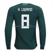 Voetbalshirt Mexico 2018 Hirving Lozano 8 thuis tenue lange mouw..