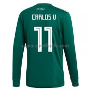 Voetbaltenue Mexico WK 2018 Carlos Vela 11 thuisshirt lange mouw..