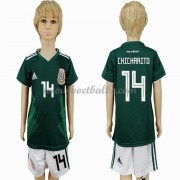Voetbalshirts kids Mexico 2018 Chicharito 14 thuis tenue ..