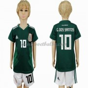 Voetbalshirts kids Mexico 2018 G. dos Santos 10 thuis tenue ..