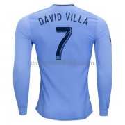 Voetbaltenue New York City David Villa 7 thuisshirt lange mouw 2017-18..