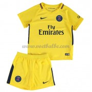 Voetbalshirts kids Paris Saint Germain PSG uit tenue 2017-18..