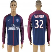 Voetbaltenue Paris Saint Germain Psg David Luiz 32 thuisshirt lange mouw 2017-18..
