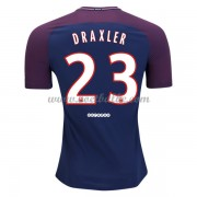 Voetbaltenue Paris Saint Germain Psg Julian Draxler 23 thuisshirt 2017-18..