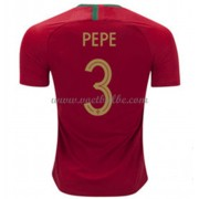 Voetbaltenue Portugal WK 2018 Pepe 3 thuisshirt..