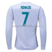 Voetbaltenue Real Madrid Cristiano Ronaldo 7 thuisshirt lange mouw 2017-18..