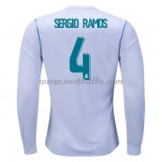 Voetbaltenue Real Madrid Sergio Ramos 4 thuisshirt lange mouw 2017-18..
