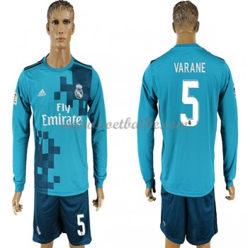 Voetbaltenue Real Madrid Varane 5 third shirt lange mouw 2017-18