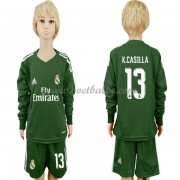 Voetbalshirts kids Real Madrid Casillas 1 keeper thuis tenue lange mouw 2017-18..