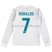 Voetbalshirts kids Real Madrid Cristiano Ronaldo 7 thuis tenue lange mouw 2017-18