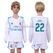Voetbalshirts kids Real Madrid Isco 22 thuis tenue lange mouw 2017-18..