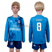 Voetbalshirts kids Real Madrid Toni Kroos 8 third tenue lange mouw 2017-18..