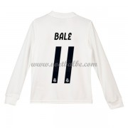 Goedkope Voetbalshirts Real Madrid Tenue Kind 2018-19 Gareth Bale 11 Thuisshirt Lange Mouw..