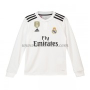 Goedkope Voetbalshirts Real Madrid Tenue Kind 2018-19 Thuisshirt Lange Mouw..