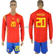 Voetbalshirt Spanje 2018 Marco Asensio 20 thuis tenue lange mouw..