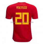 Voetbalshirt Spanje 2018 Marco Asensio 20 thuis tenue ..