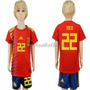 Voetbalshirts kids Spanje 2018 Isco 22 thuis tenue ..