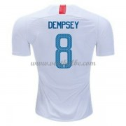Voetbalshirt USA 2018 Clint Dempsey 8 thuis tenue ..