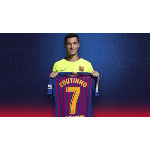Barcelona geeft Philippe Coutinho No. 7 Voetbalshirts