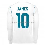 Voetbaltenue Real Madrid James Rodriguez 10 thuisshirt lange mouw 2017-18